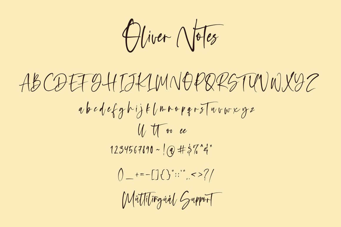 Oliver Notes - Handwritten Font example image 10
