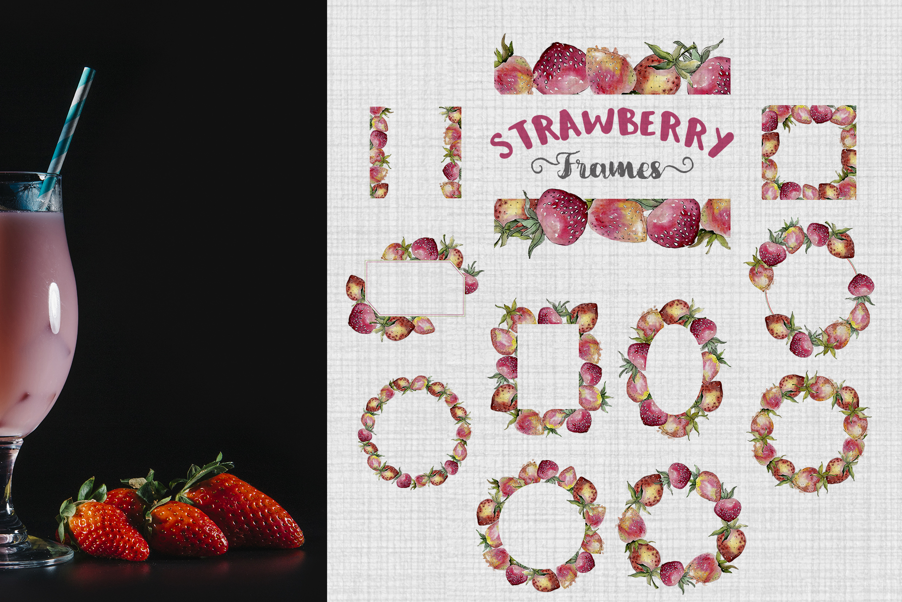 Strawberry Watercolor png example image 5