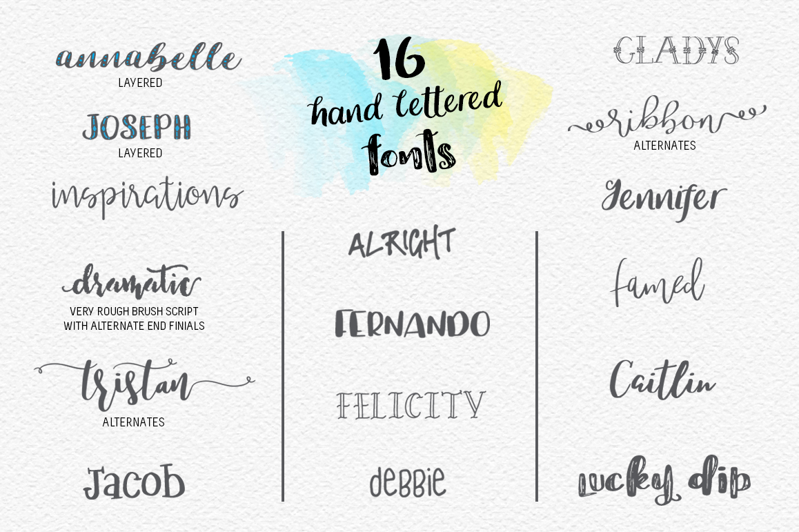 Lucky Dip Hand Lettered Font Bundle example image 2