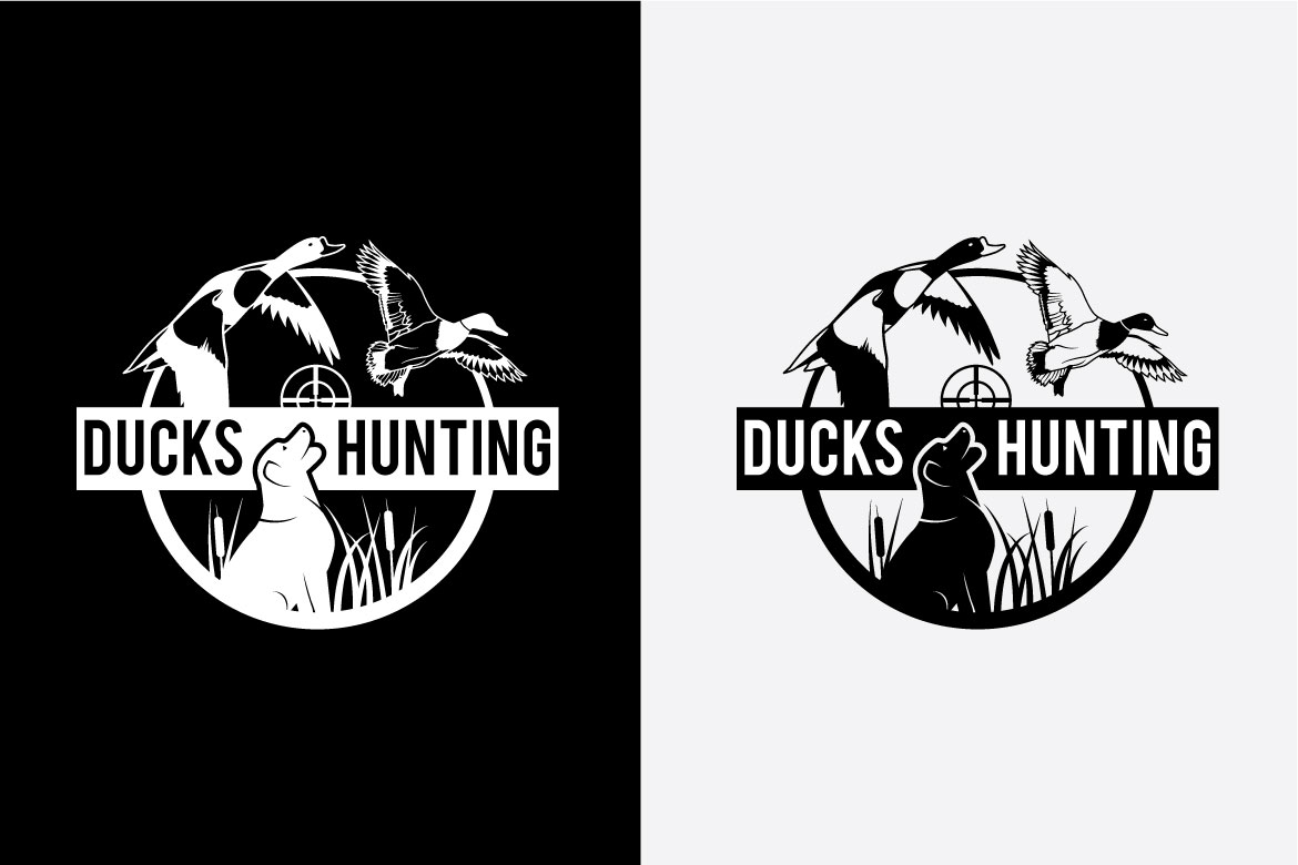 DUCK HUNTING Badges and Logo example image 2