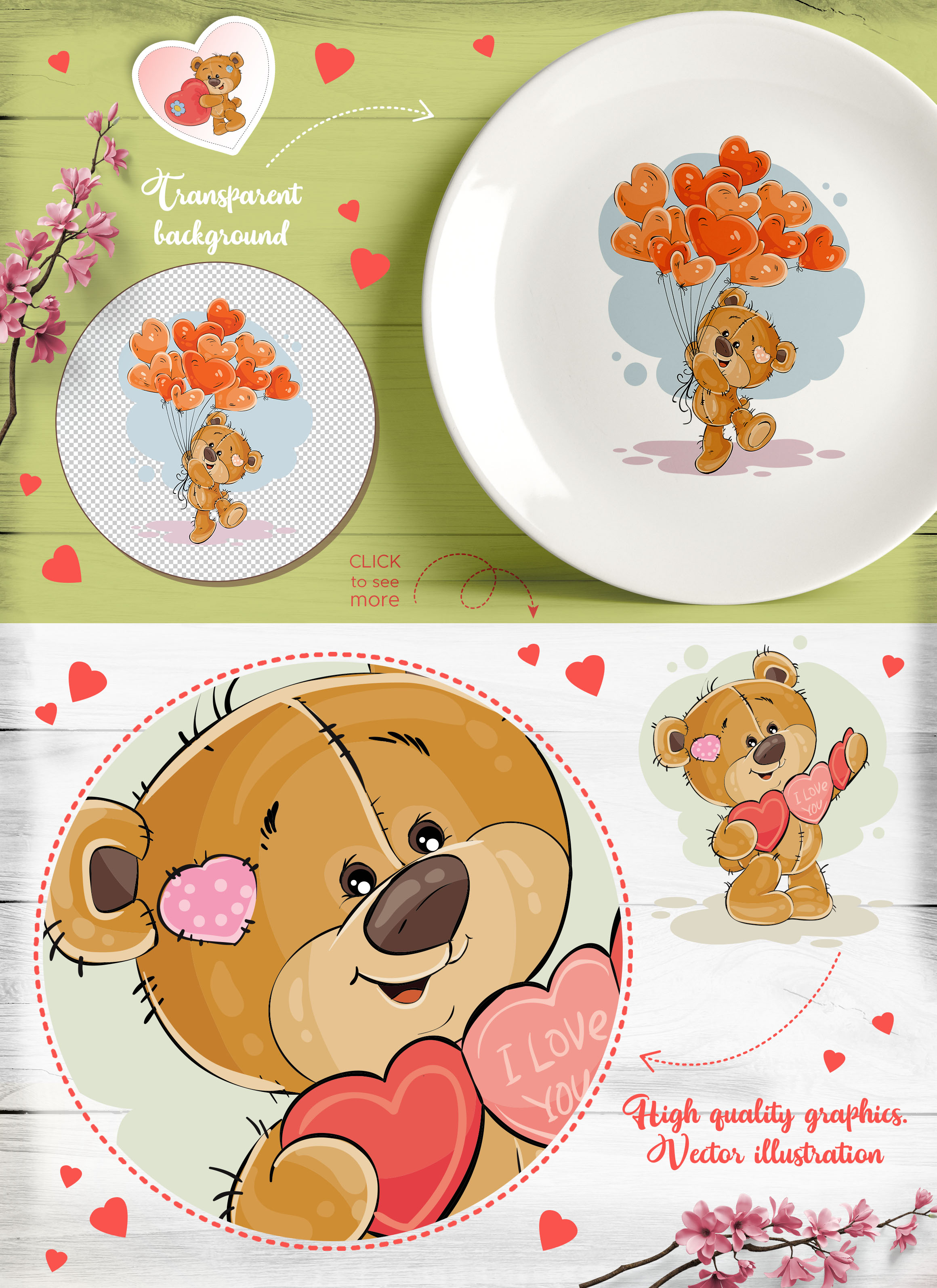 Teddy bear. Love collection.   example image 4