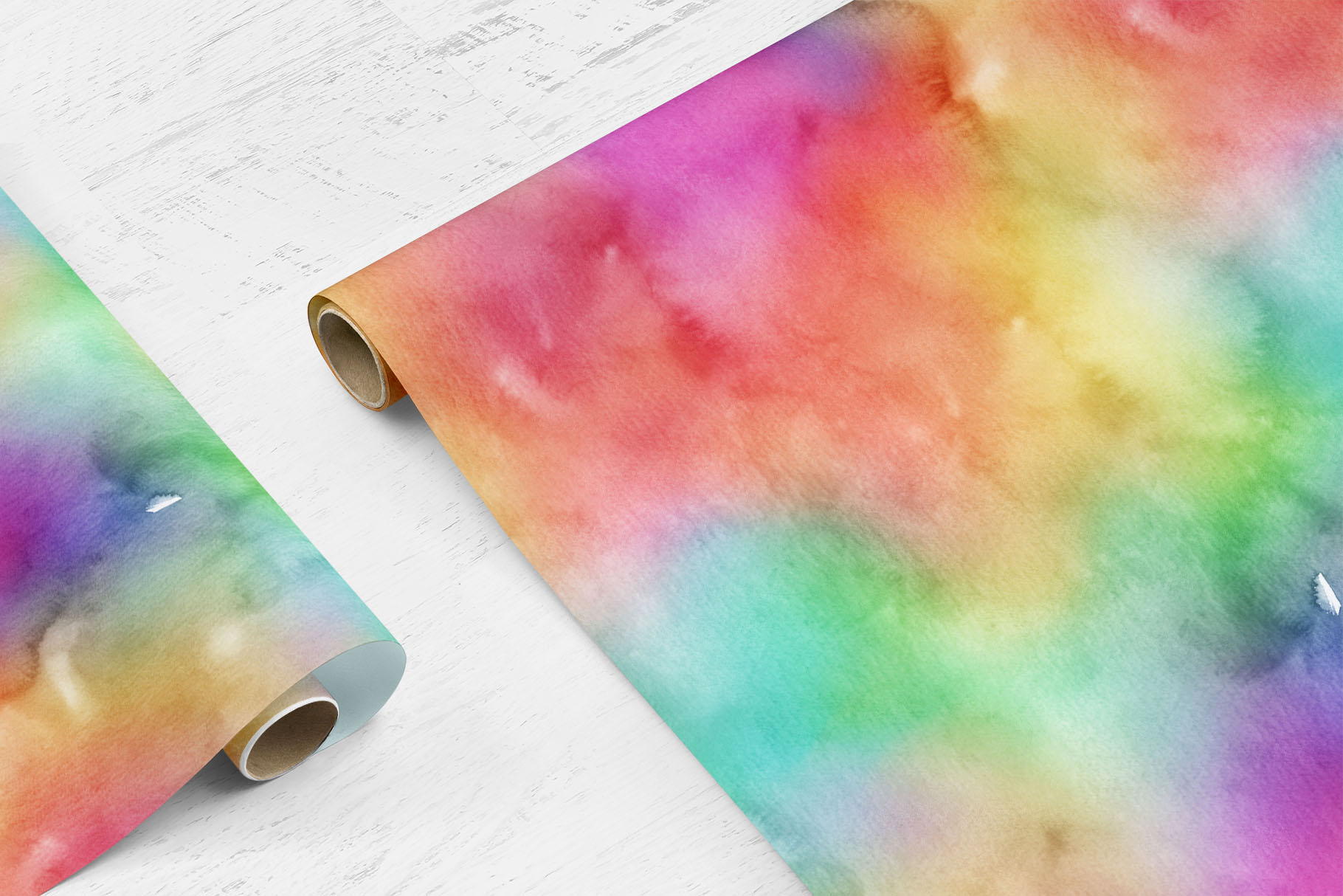 10 Huge Seamless Rainbow Watercolor Textures example image 7