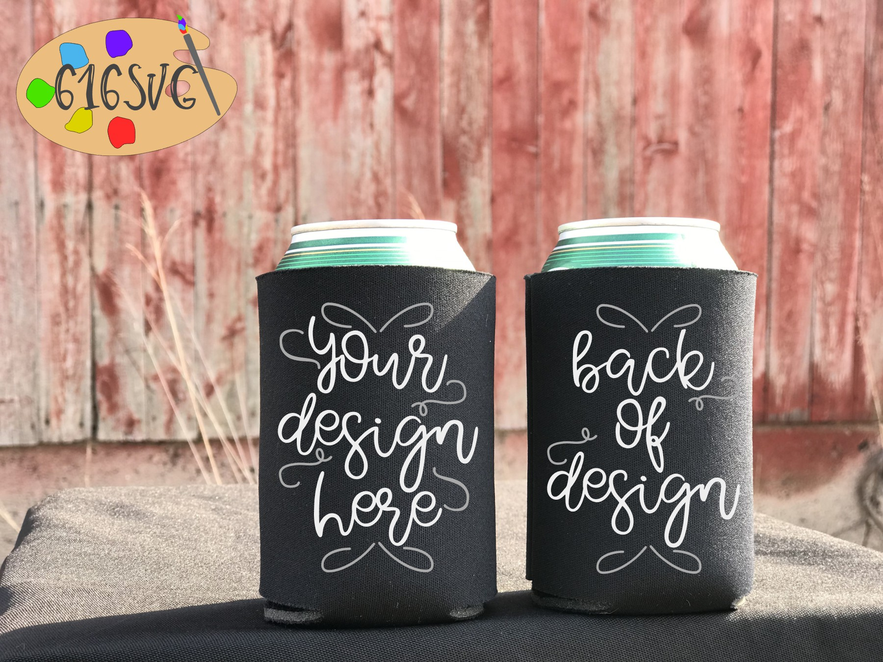 Can Cooler Mockup Bundle 33 Color Choices example image 2