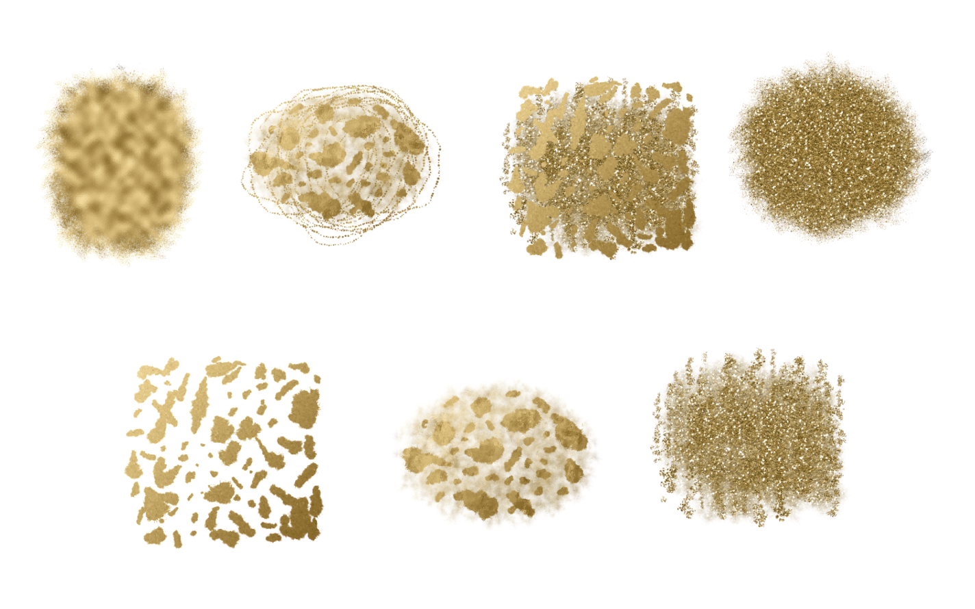 Gold Glitter Backgrounds, Gold Design PNG Elements example image 2
