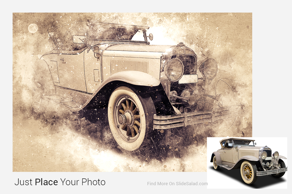 Vintage Art Photoshop Mock-ups example image 13