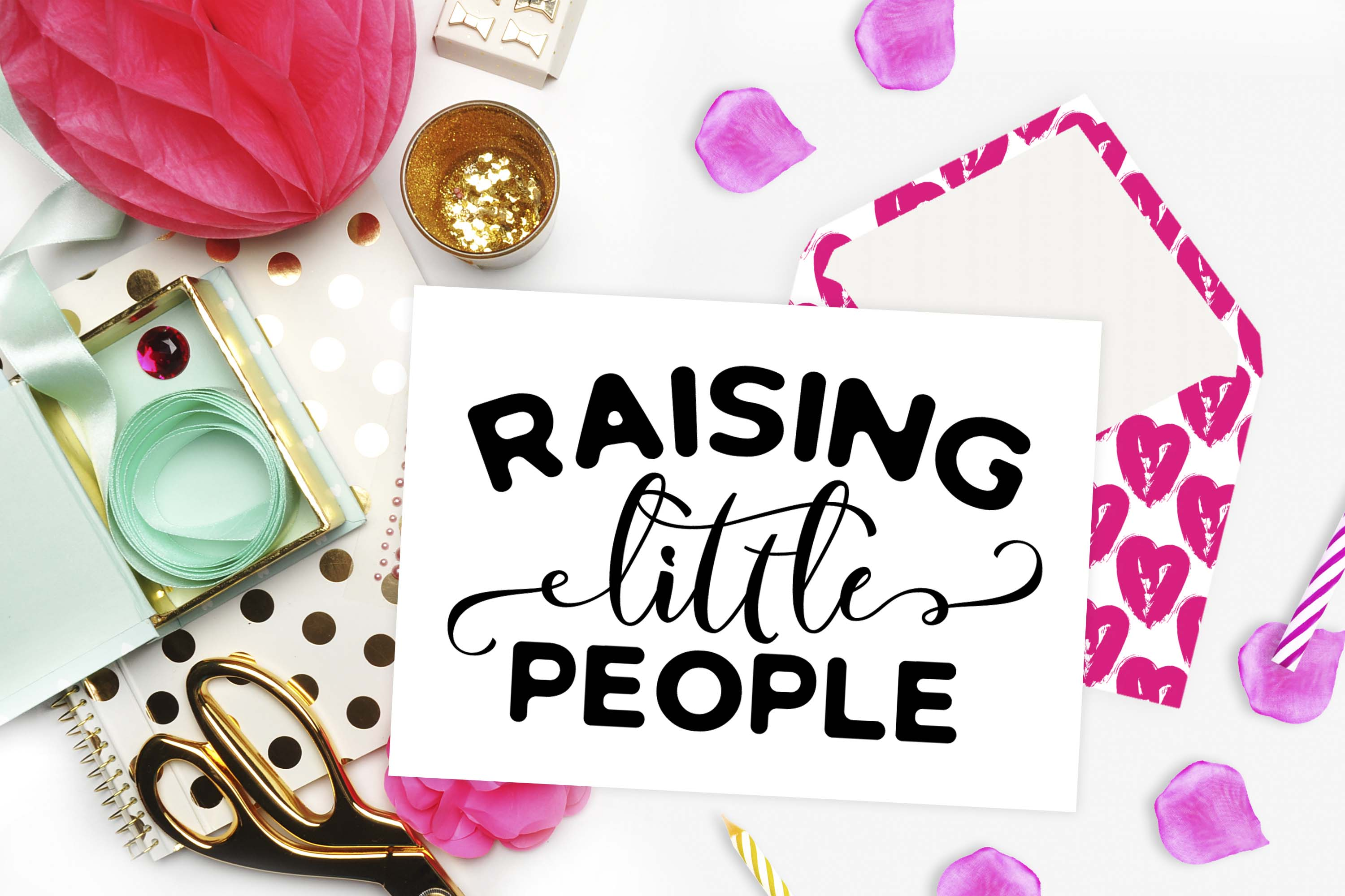 Raising little people SVG DXF PNG EPS example image 2