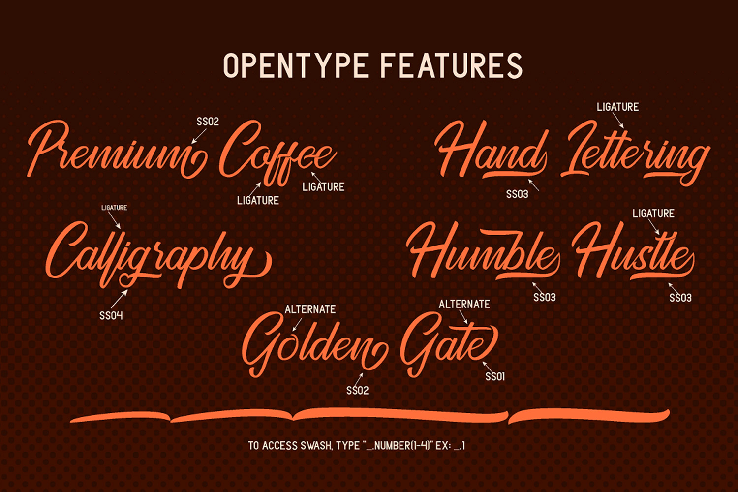 Golden Gate   Handcrafted Font Familyy example image 7