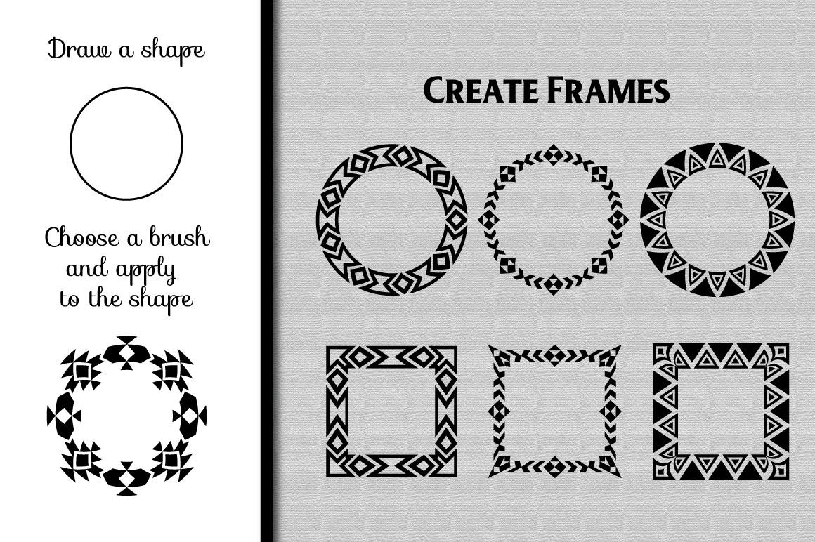 80 Tribal Pattern Brushes for Adobe Illustrator example image 3