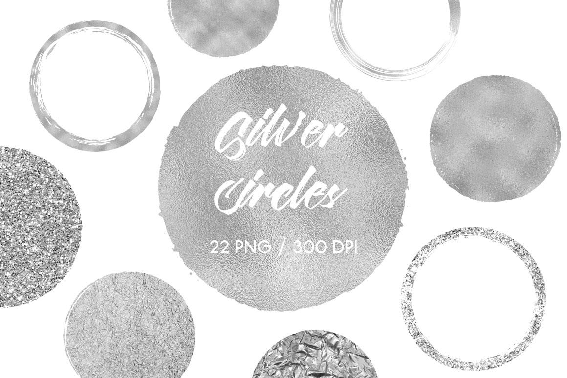 Silver Circles Clip Art example image 1
