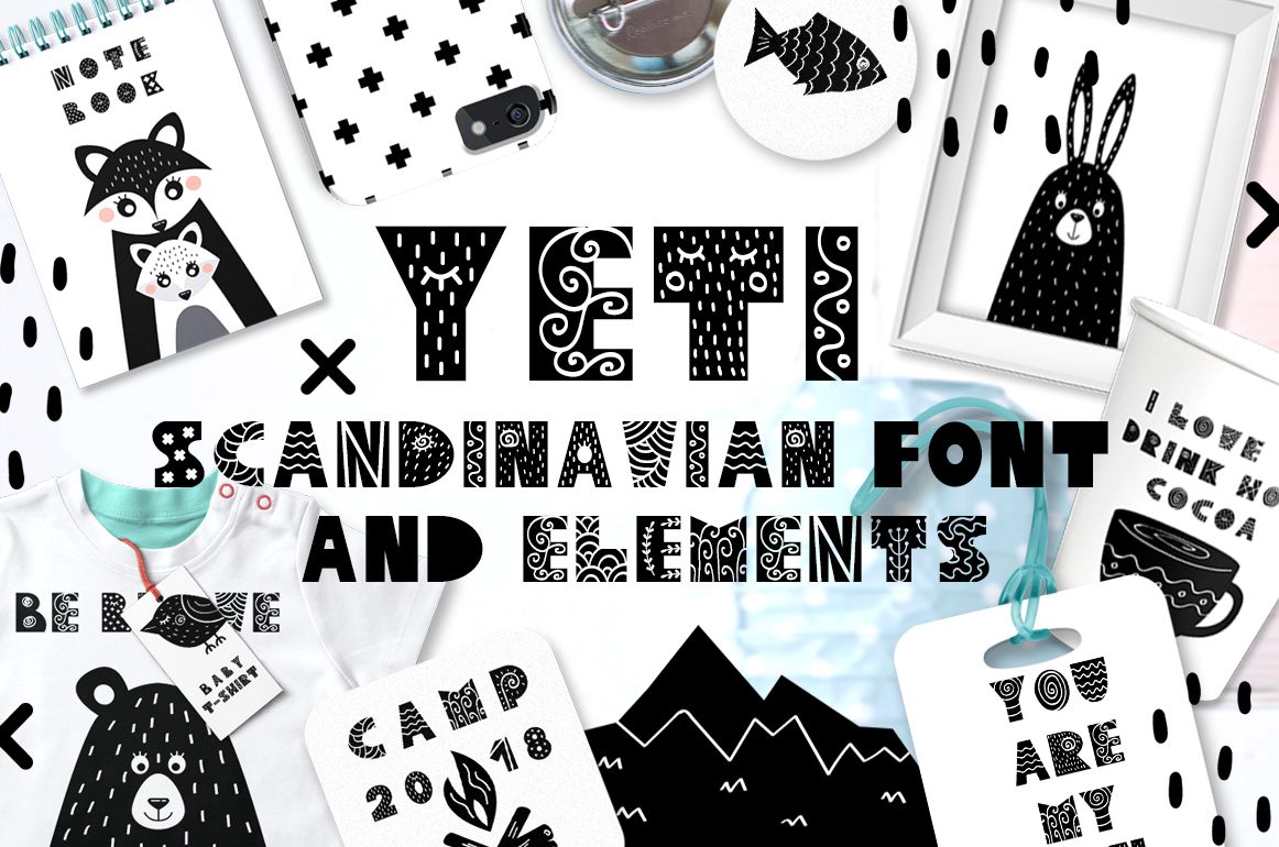 Yeti - Scandinavian font & elements example image 1