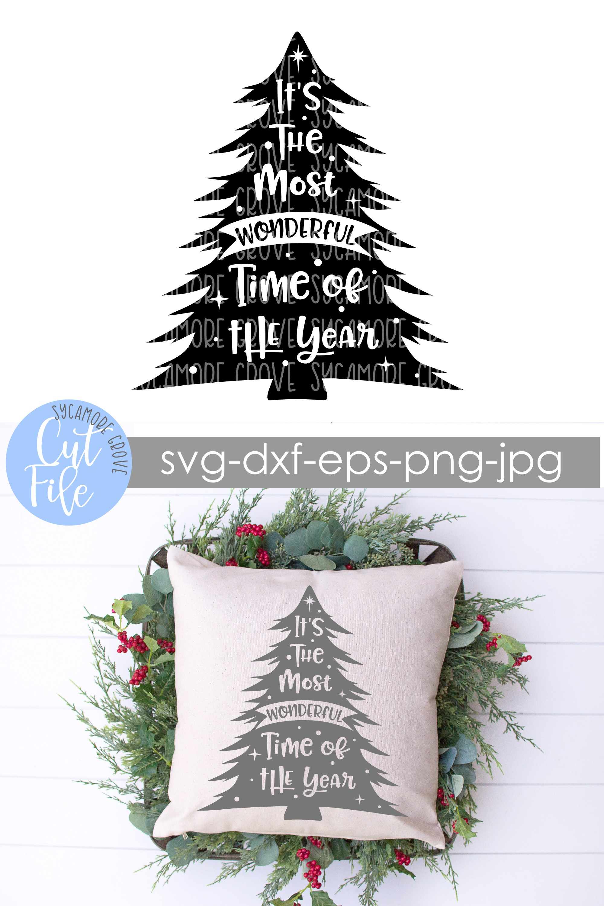 It's The Most Wonderful Time Of The Year | Christmas SVG example image 7