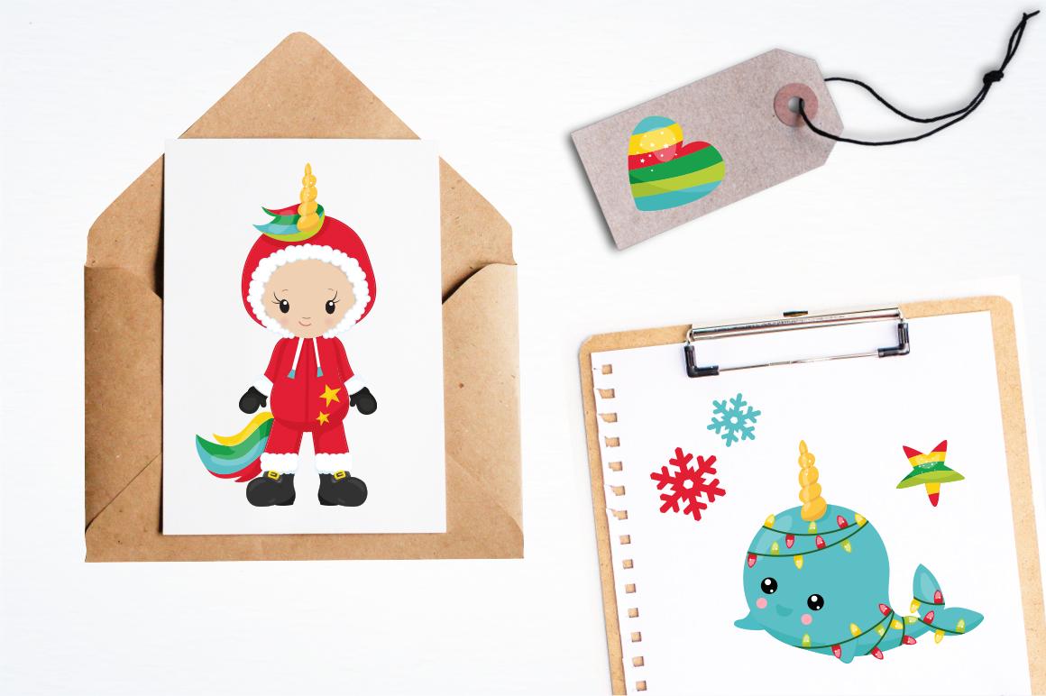 Christmas Wannabe Unicorns graphics and illustrations example image 4