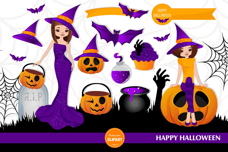 Halloween pumpkin, Halloween illustrations, Halloween girl example image 3