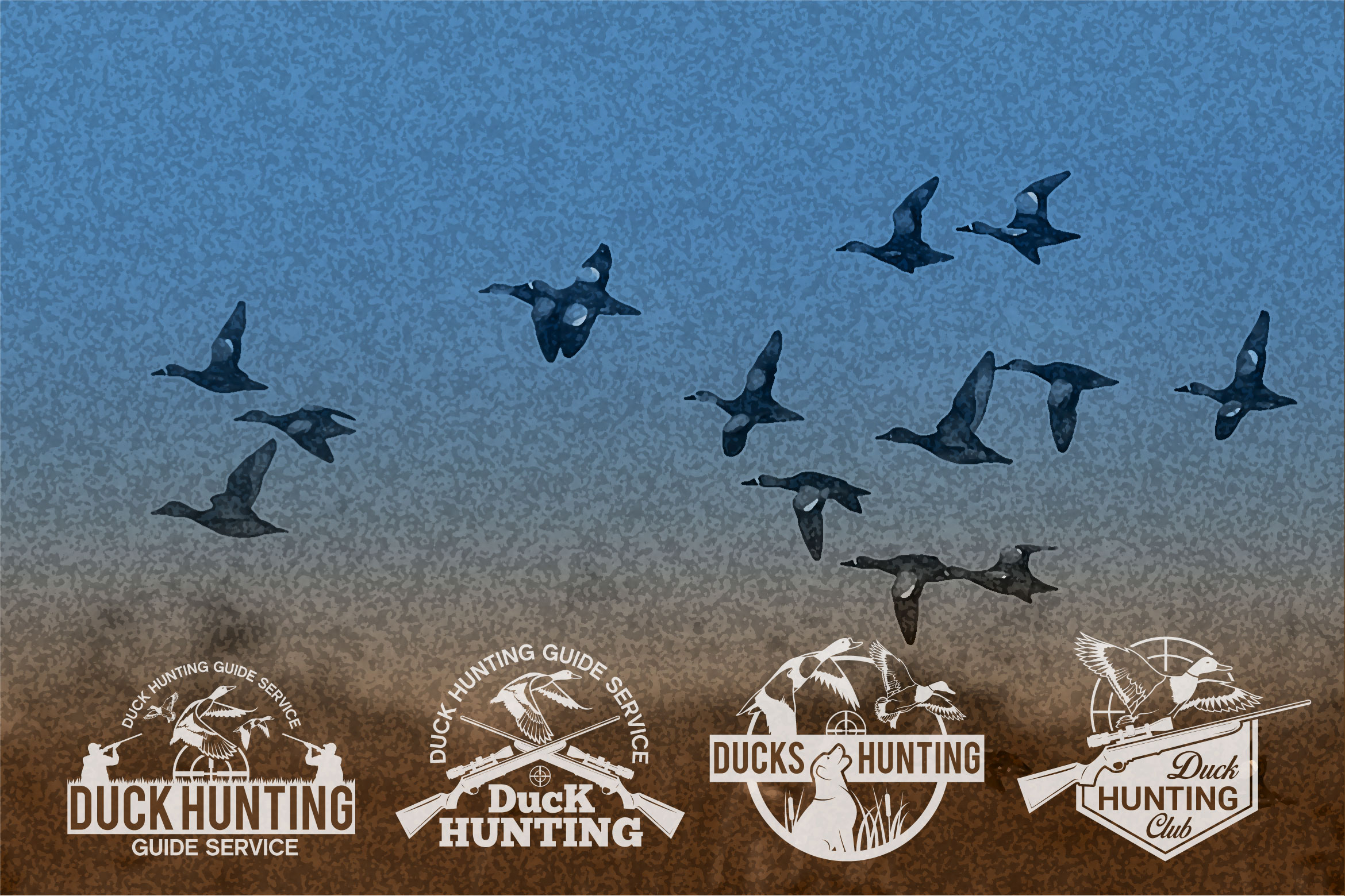 DUCK HUNTING Badges and Logo example image 1