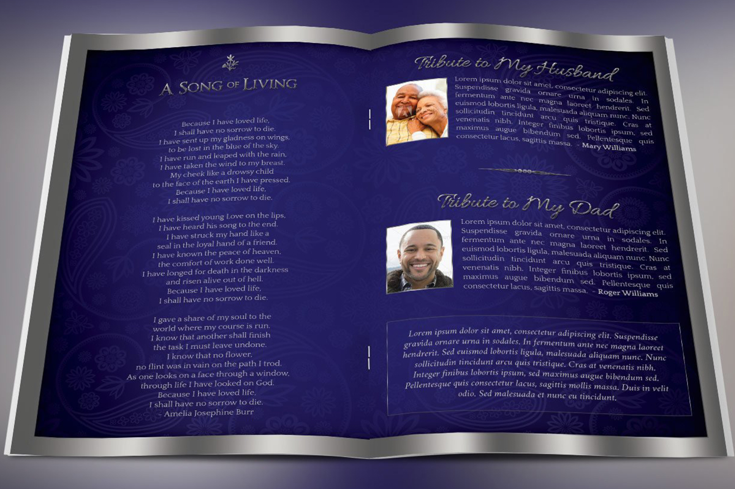 Dignity Funeral Program Template Bundle Publisher Word example image 3
