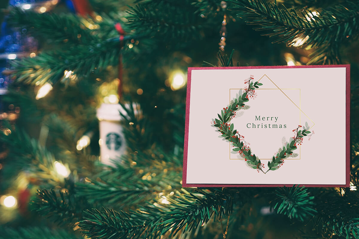 Christmas Watercolor Geometric Frames Collection example image 2