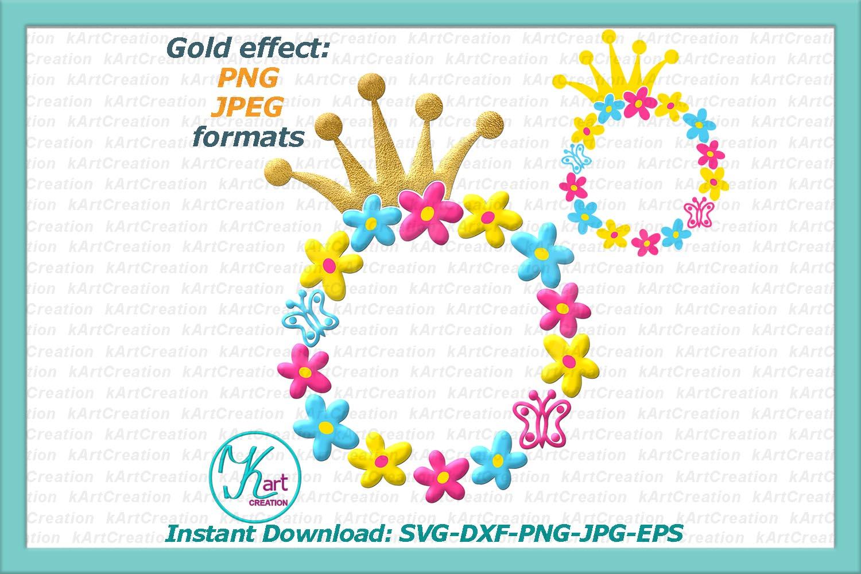 Princess Toddler Monograms bundle SVG DXF cutting files example image 5