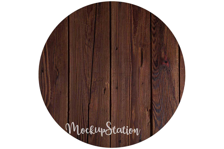 Sublimation Wood Background PNG Bundle, Round Frame Clip Art example image 2