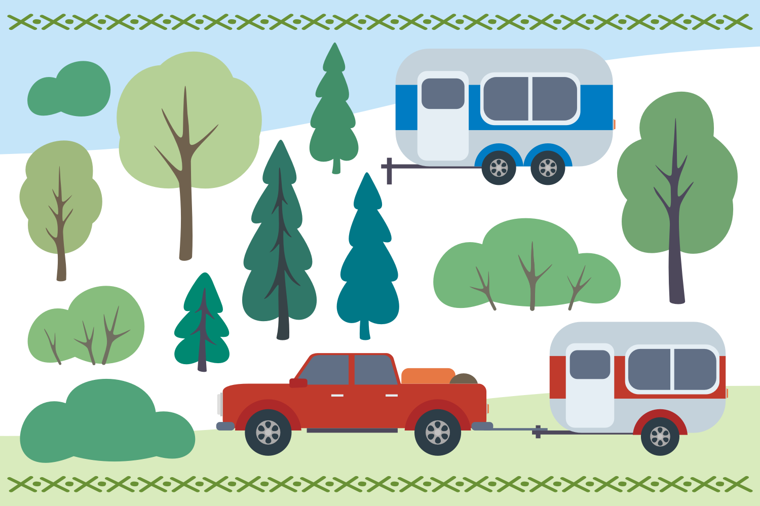 Camping life. Vector cliparts. example image 4