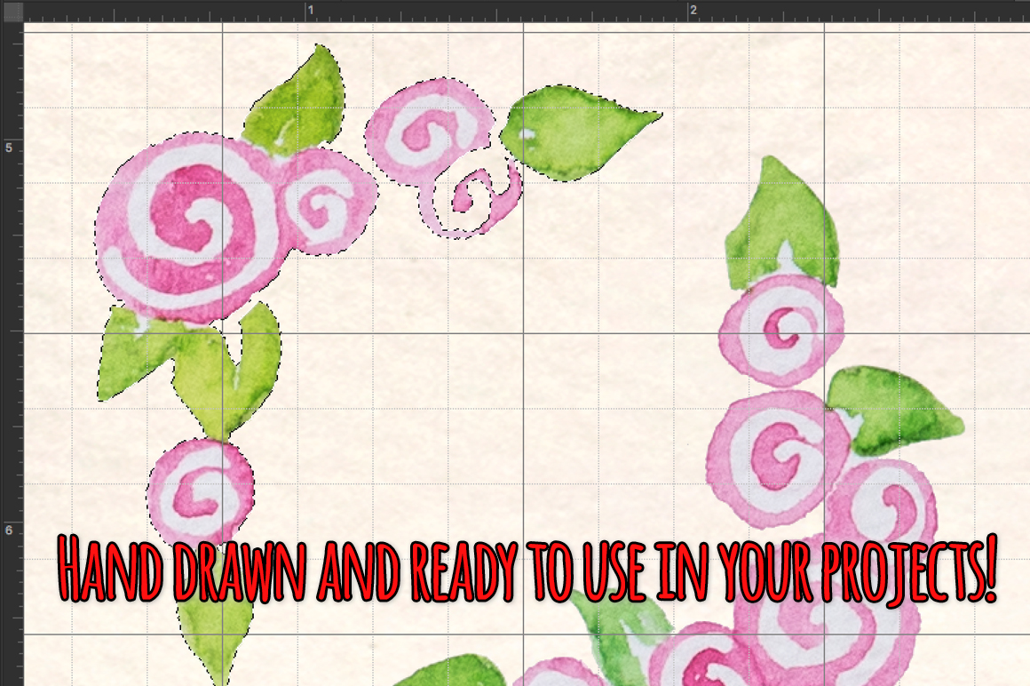 40 Handpainted Watercolor Borders, Corners and Bunting example image 3