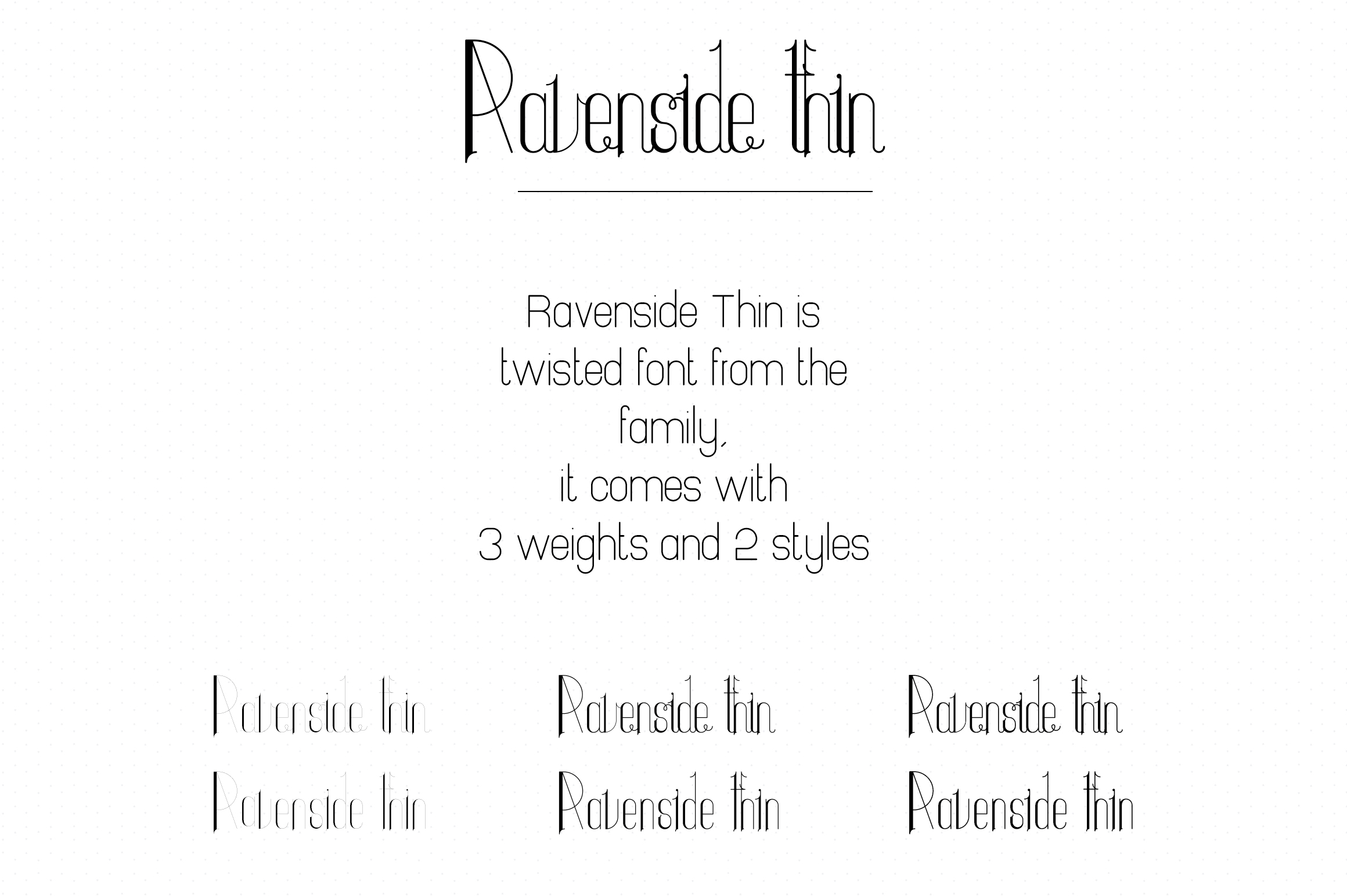 Ravenside-high end trio font example image 14