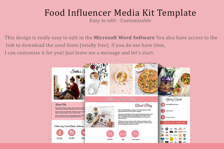 Influencer Food Media Kit Template - Sponsorships For Blogs example image 5
