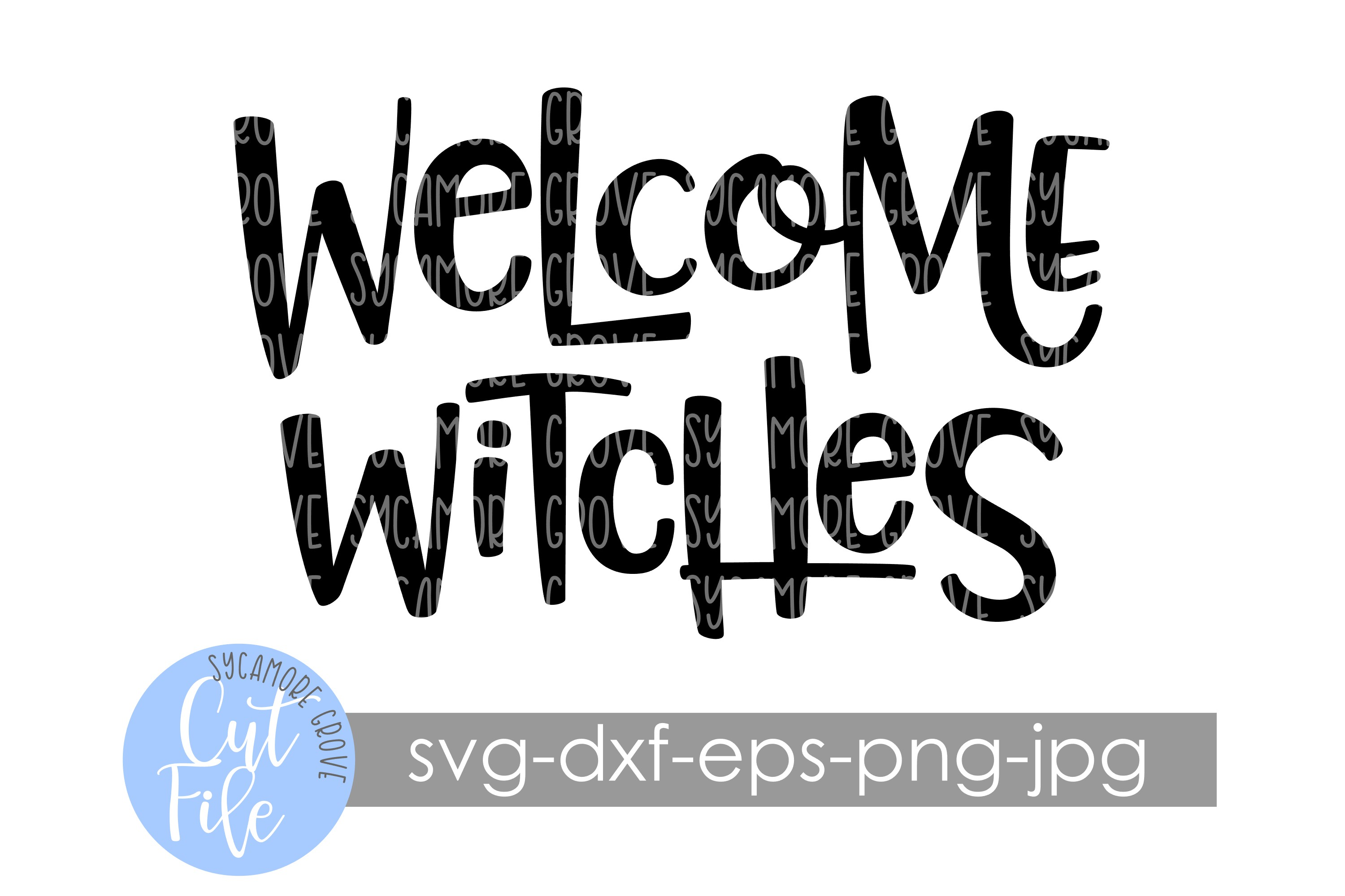 Welcome Witches | Halloween Doormat | SVG Cut File example image 2