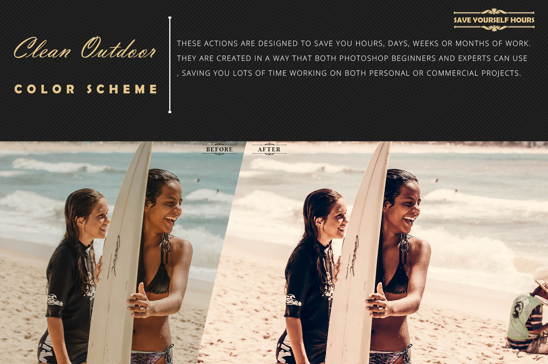Neo Clean Outdoor Color grading Photoshop Actions example image 7