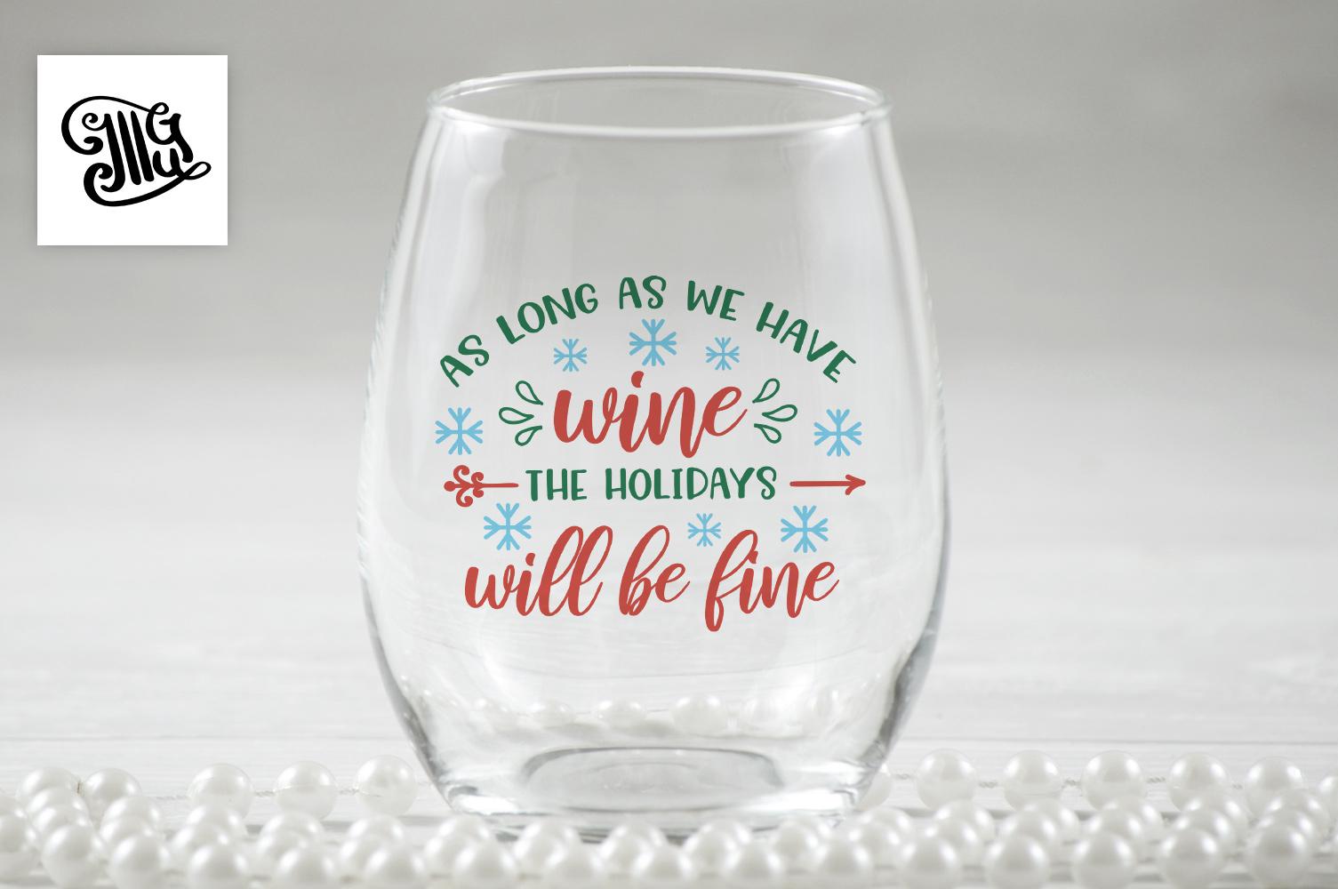 Christmas wine svg bundle example image 2