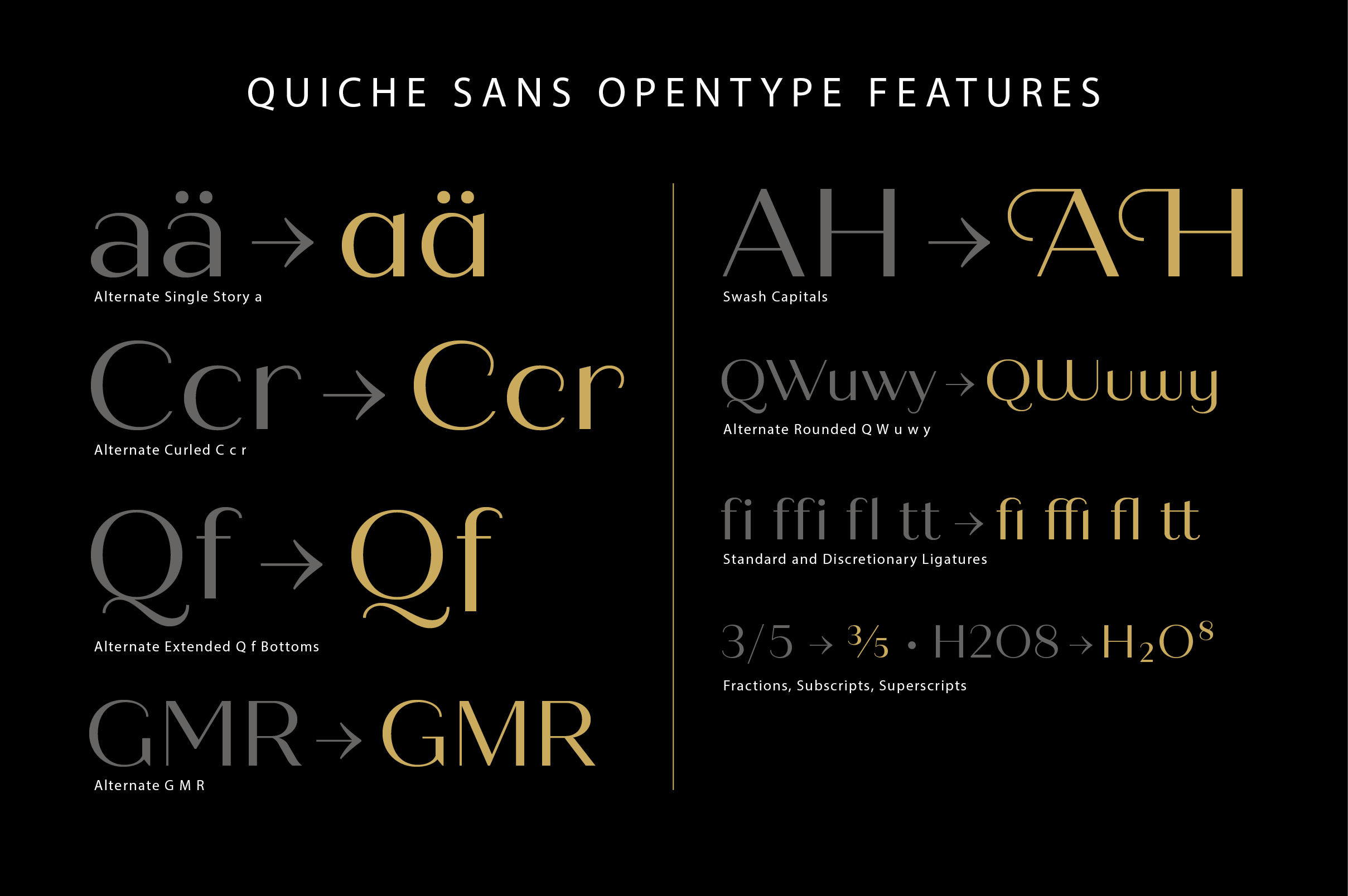 Quiche Sans Regular and Bold Fonts example image 12