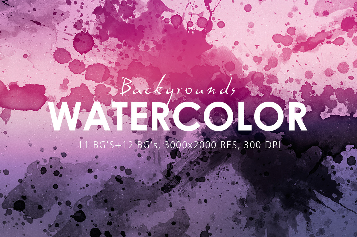 Watercolor Backgrounds & Bonus example image 4