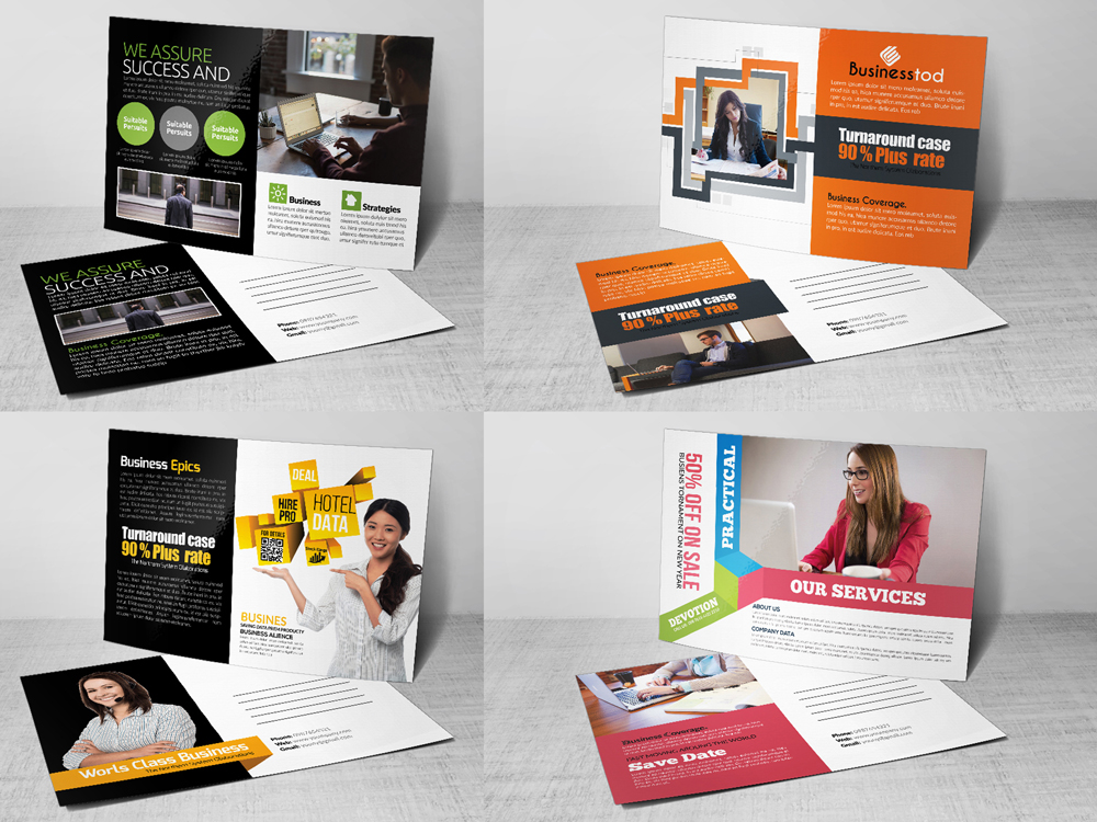 10 Business Postcards Bundle example image 4
