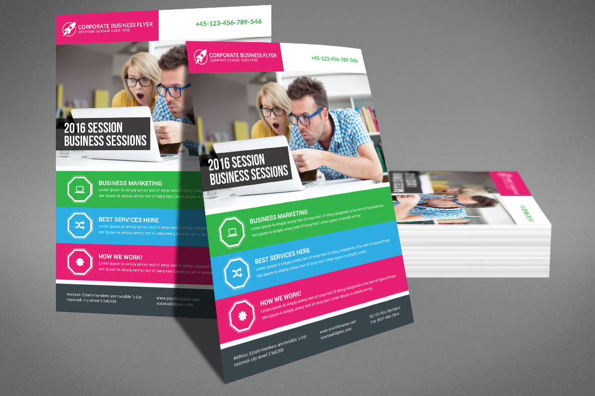 Global Business Agency Psd Flyer example image 3