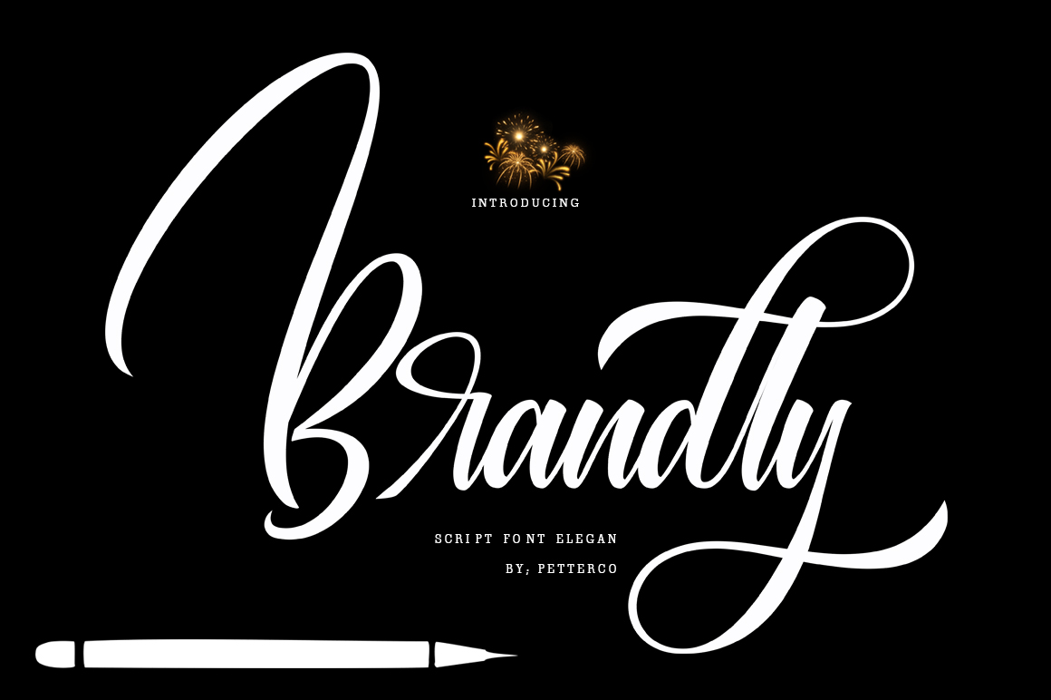 Brandly script font modern example image 1
