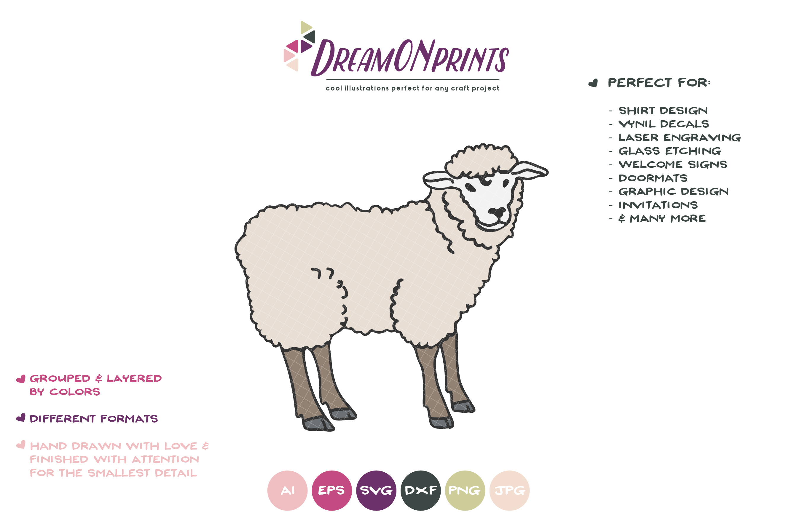 Sheep SVG Cut Files - Farm SVG example image 2