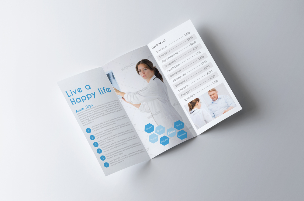 Medical Doctor Trifold Brochure example image 3