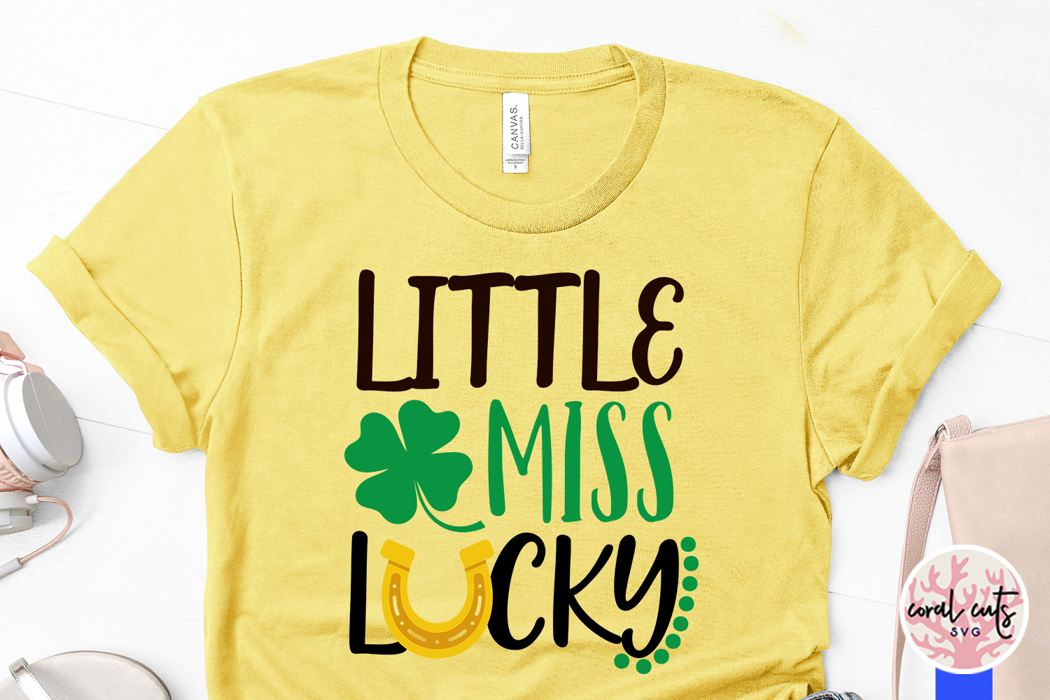 Little miss lucky - St. Patrick's Day SVG EPS DXF PNG example image 3