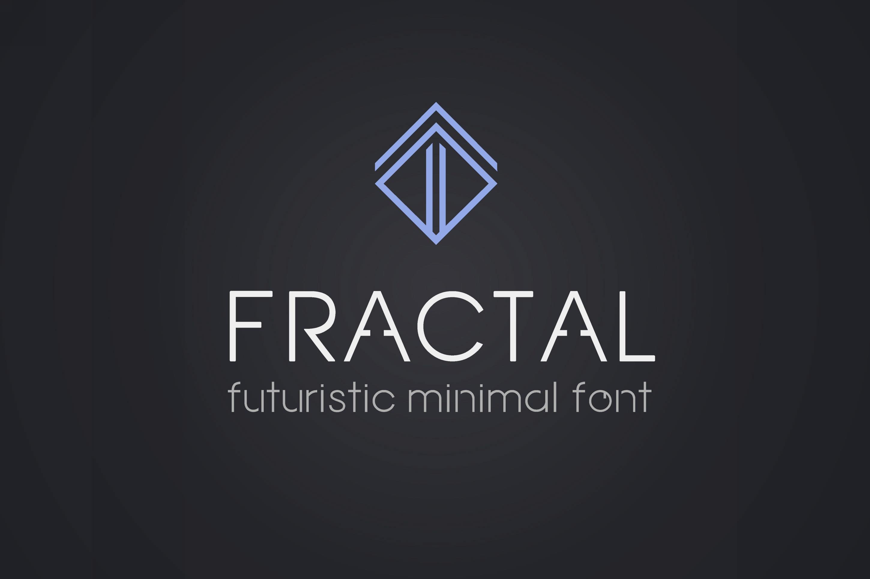Fractal - futuristic minimal font example image 1
