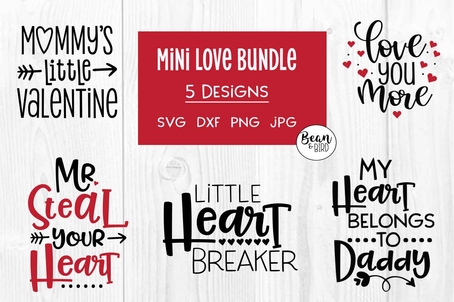 Mini Love Bundle Valentines SVG example image 2