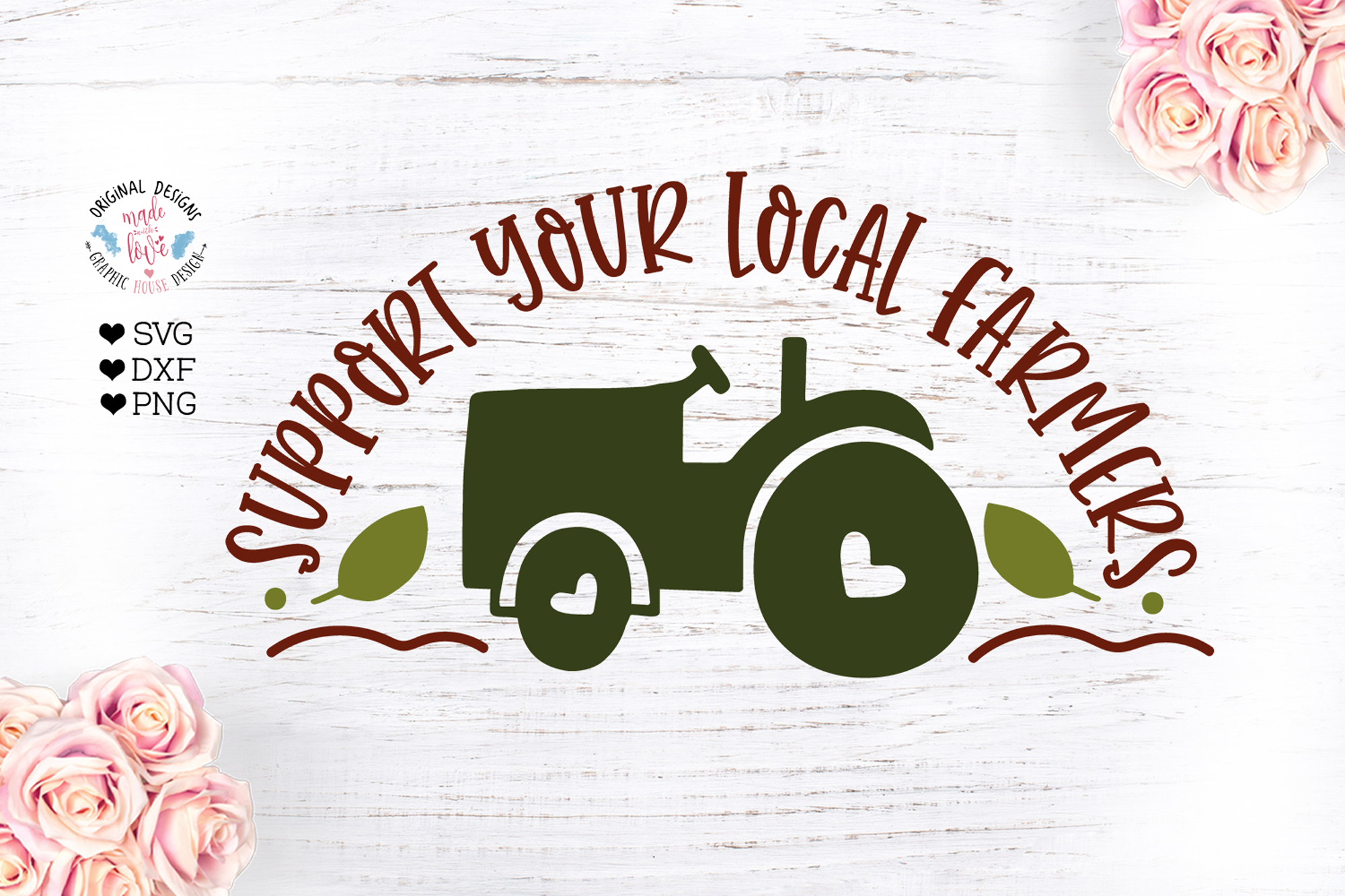 Support Your Local Farmers - Farm Cut File example image 1