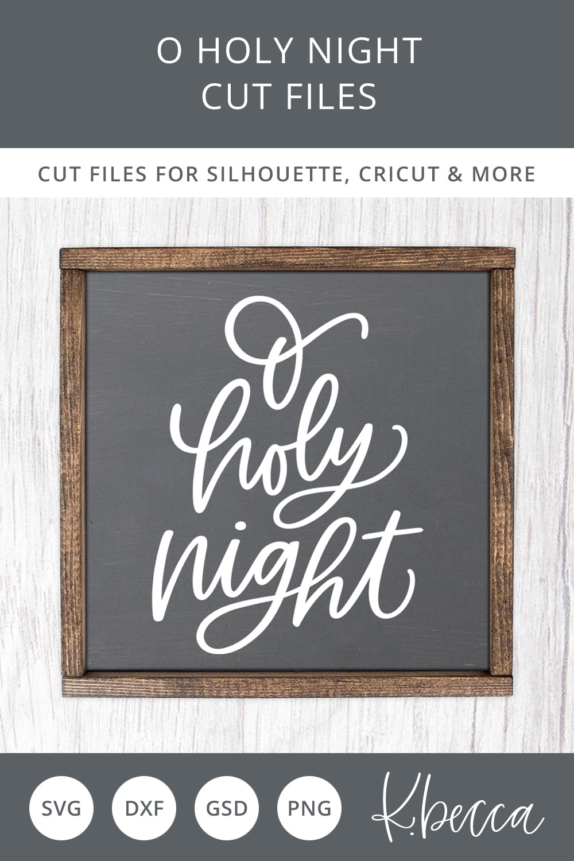 O Holy Night Christmas Tree SVG Cut Files example image 2