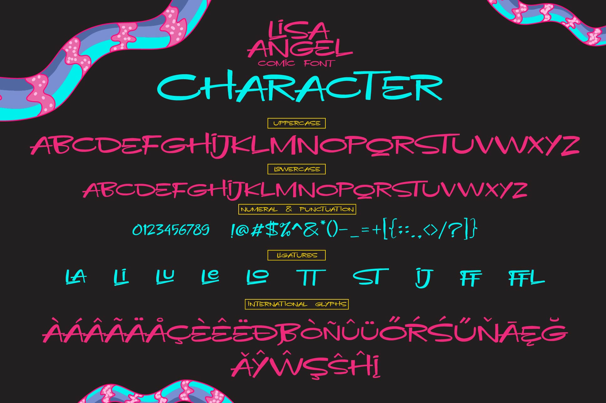 LISA ANGEL - comic font example image 8