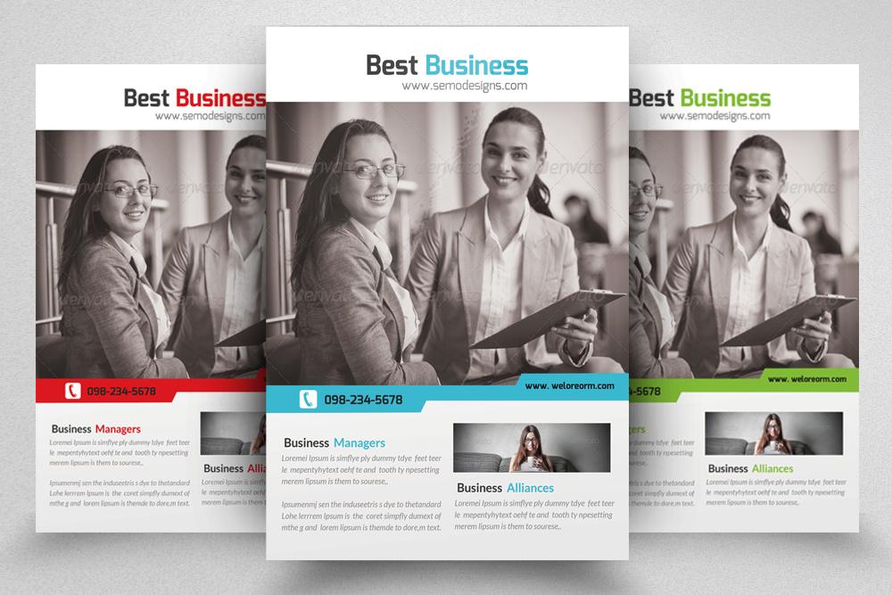 6 Corporate Business Flyers Bundle example image 4