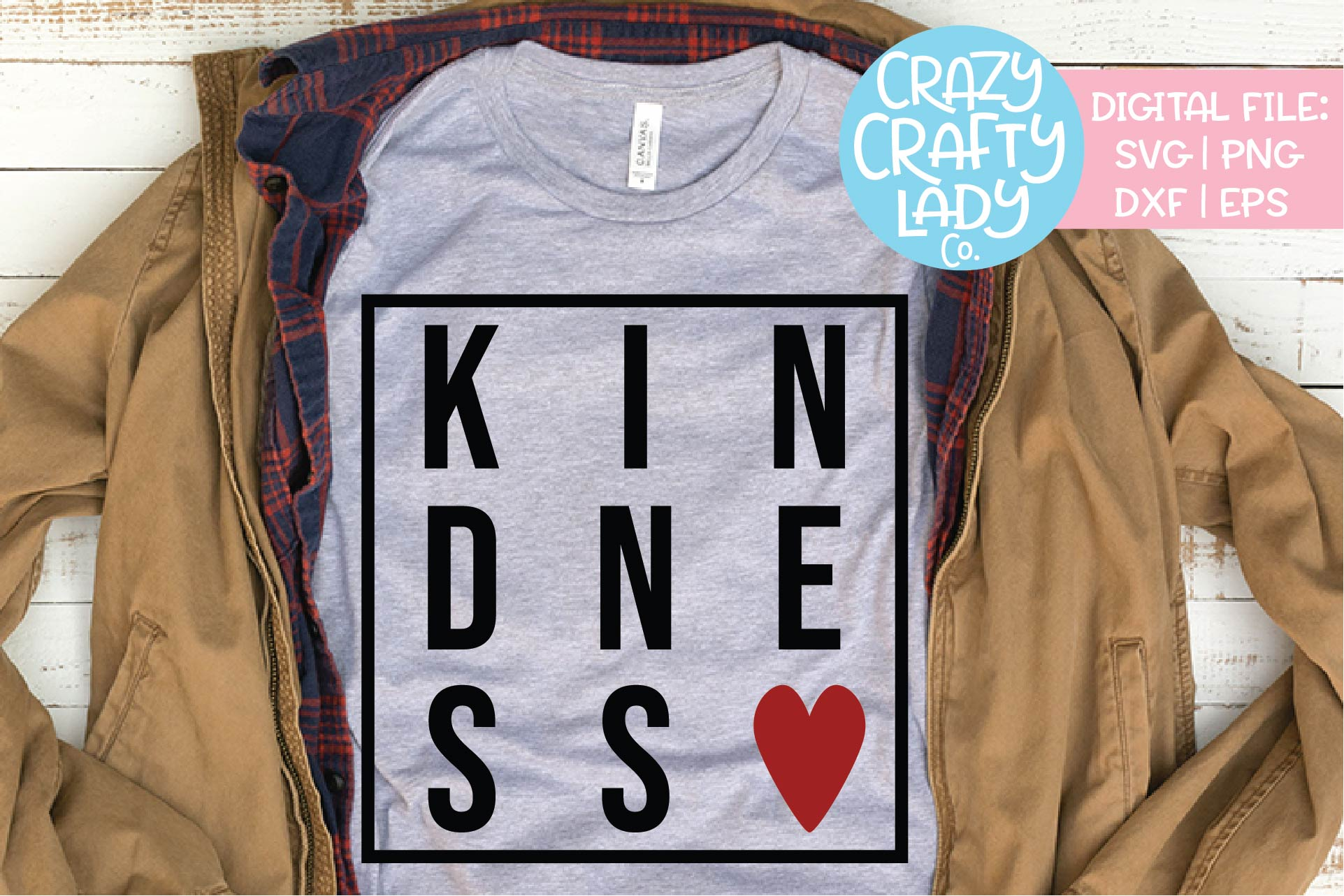 Kindness SVG DXF EPS PNG Cut File example image 1