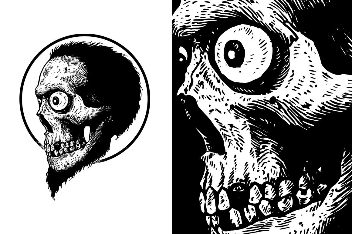 20 VECTOR skull illustration example image 2