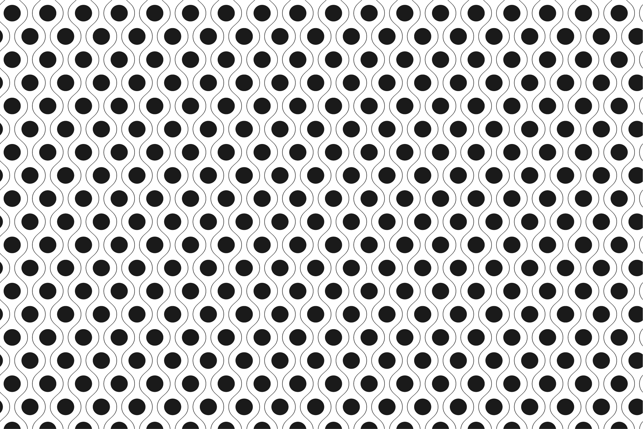Geometric seamless patterns. B&W. example image 13