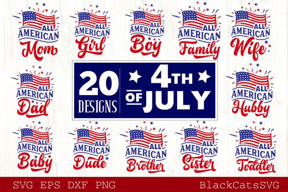 Fourth of July SVG Bundle 20 Designs example image 2