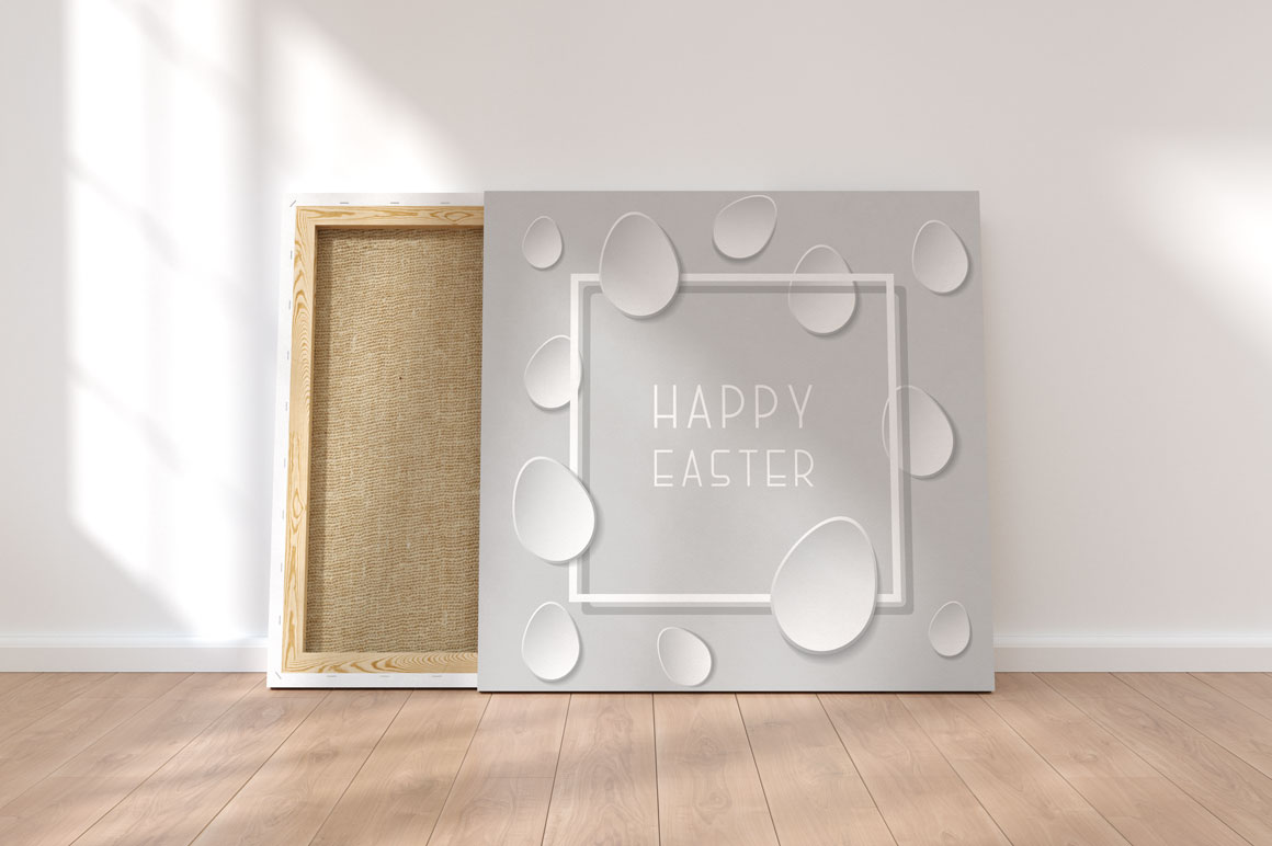 Greeting happy easter paper cards. example image 2