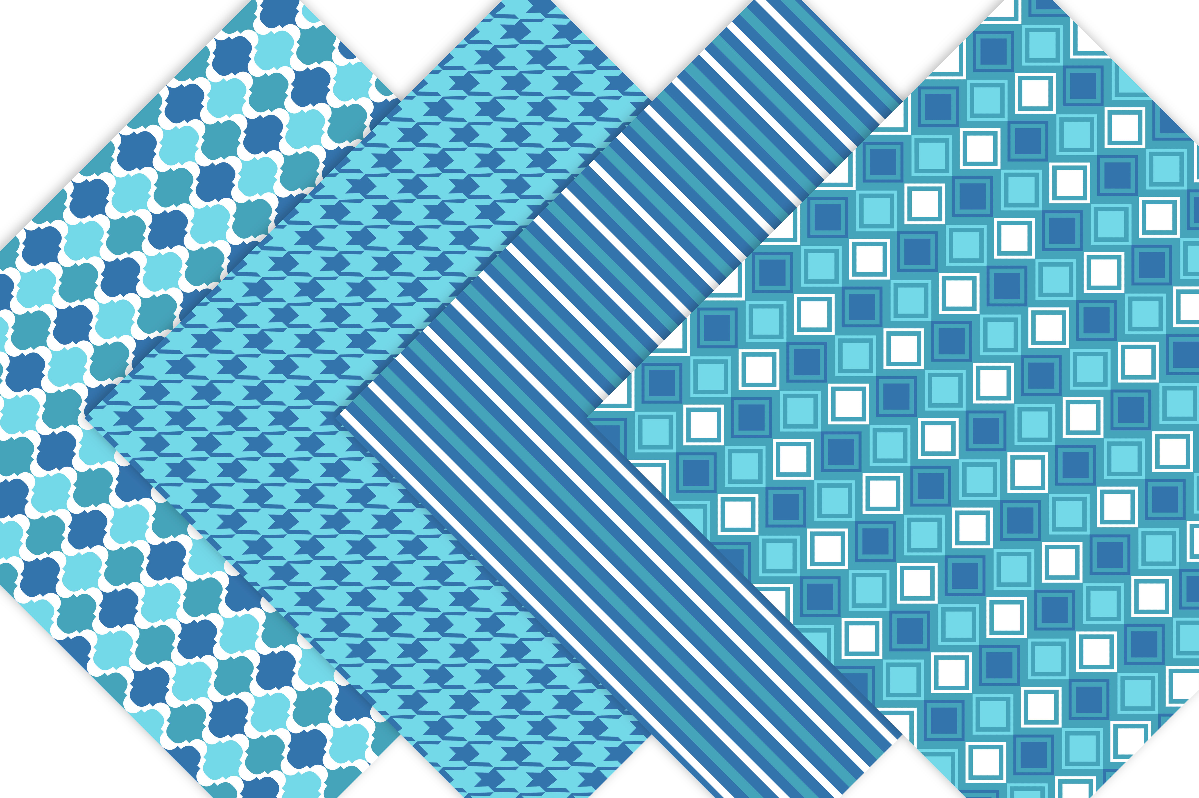 Blue Patterned Paper Pack example image 3