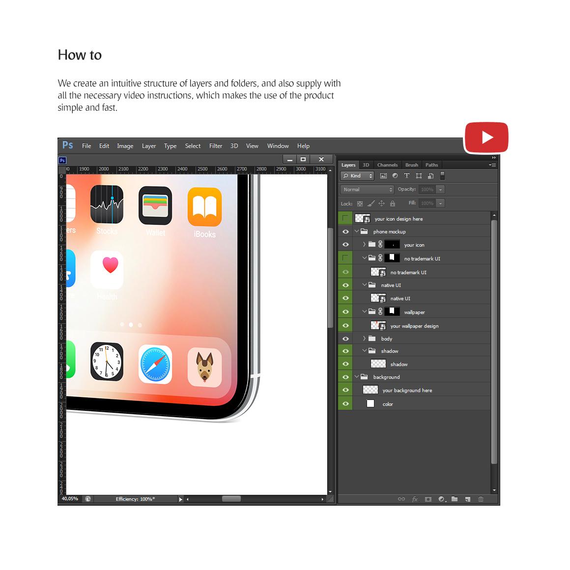 Phone App Mockups Set example image 7